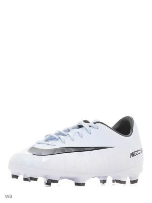Бутсы JR MERCURIAL VAPOR XI CR7 FG Nike. Цвет: белый