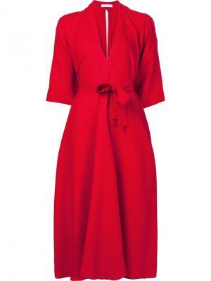Платье с V-образным вырезом Tome. Цвет: красный