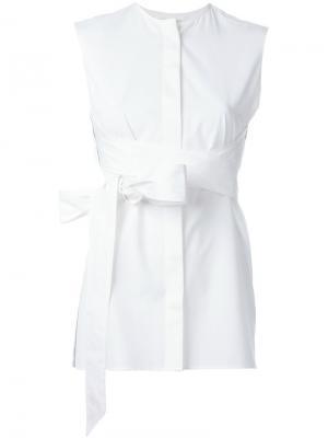 Блузка без рукавов Each X Other. Цвет: белый