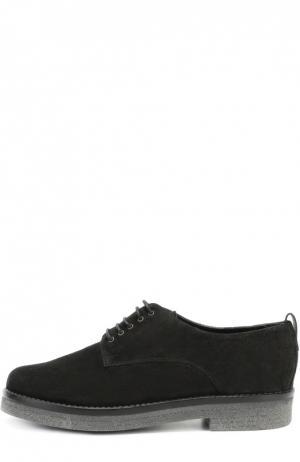 Замшевые ботинки на наборной подошве Baldan. Цвет: черный