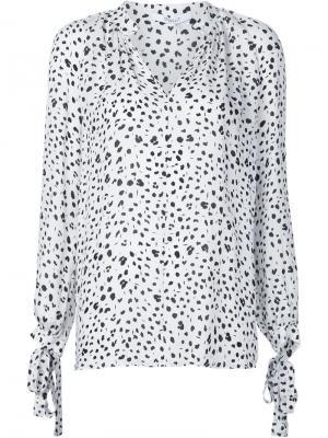 Блузка с принтом Derek Lam 10 Crosby. Цвет: белый