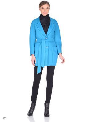 Пальто XP-GROUP. Цвет: бирюзовый