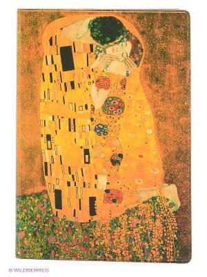 Обложка для паспорта Поцелуй Климта Mitya Veselkov. Цвет: горчичный, желтый