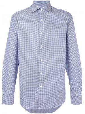 Классическая рубашка Canali. Цвет: синий