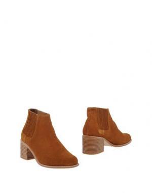 Полусапоги и высокие ботинки F-TROUPE. Цвет: коричневый