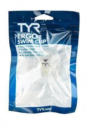 Зажим для носа TYR. Цвет: белый