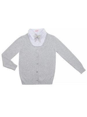 Джемпер 7 одежек. Цвет: светло-серый, белый