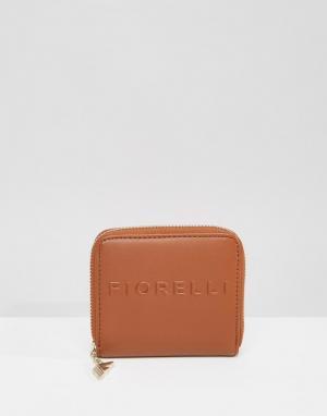 Fiorelli Кошелек с круговой молнией и логотипом. Цвет: коричневый
