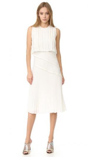 Плиссированное платье без рукавов Jason Wu. Цвет: мел