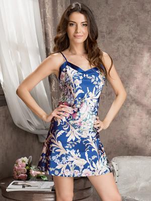 Сорочка MIA-MELLA. Цвет: синий