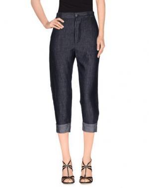 Джинсовые брюки-капри ADELE FADO. Цвет: синий