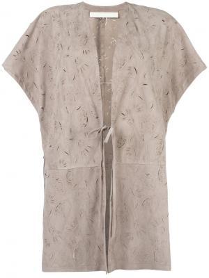 Пальто с короткими рукавами Drome. Цвет: телесный