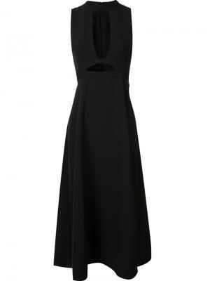 Платье Lauren Open Front Misha Nonoo. Цвет: чёрный