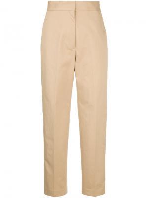Укороченные брюки с высокой талией H Beauty&Youth. Цвет: коричневый