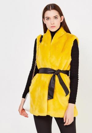 Жилет меховой Liu Jo Jeans. Цвет: желтый