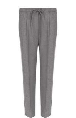 Укороченные шерстяные брюки с защипами Windsor. Цвет: серый