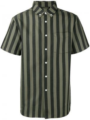 Полосатая рубашка Saturdays Nyc. Цвет: серый