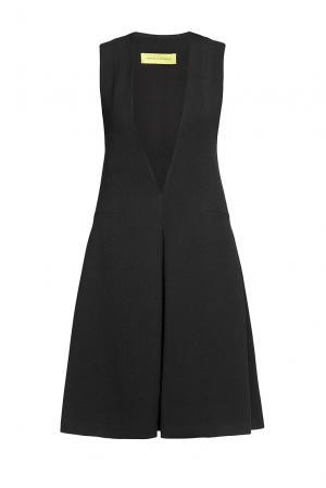 Платье из искусственного шелка с вискозой 187009 Cyrille Gassiline. Цвет: черный