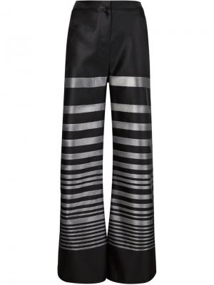 Широкие брюки Falcon Jean Pierre Braganza. Цвет: чёрный