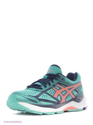 Беговые  кроссовки Gel-Foundation 12 ASICS. Цвет: зеленый, коралловый, синий