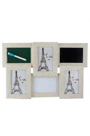 Фоторамка-коллаж на 3 фото Русские подарки. Цвет: черный, белый, синий