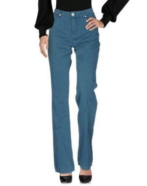 Повседневные брюки MARANI JEANS. Цвет: цвет морской волны