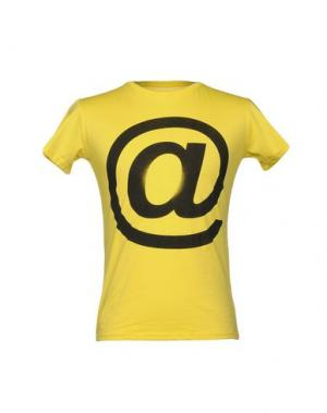 Футболка 1° GENITO. Цвет: желтый