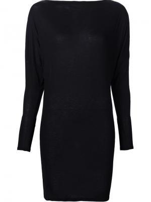 Короткое платье с длинными рукавами Alexandre Vauthier. Цвет: чёрный