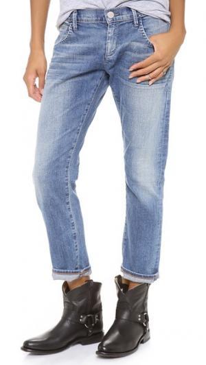 Укороченные джинсы-бойфренды His GOLDSIGN. Цвет: chelsie