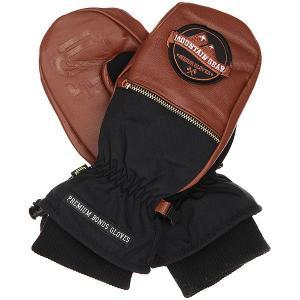 Варежки  Leather Brown Bonus Gloves. Цвет: черный,коричневый