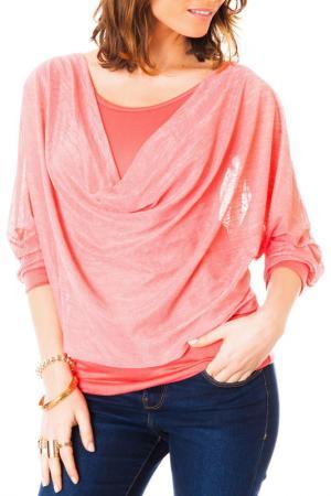 Блуза LES GAMINES DE PARIS. Цвет: красный