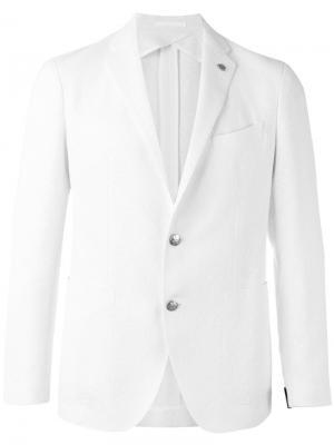 Классический пиджак Tagliatore. Цвет: белый