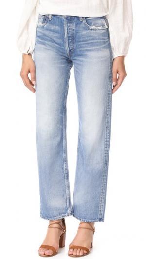 Широкие прямые джинсы MV Linda MOUSSY. Цвет: голубой