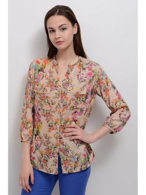 Блуза Антель LINO RUSSO. Цвет: бежевый