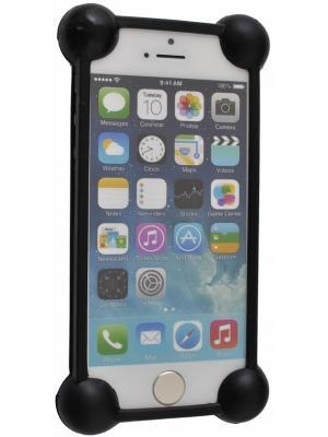 Бампер универсальный, 3.0 - 5.0, силикон, с круглыми углами, в мягкой упаковке, черный Радужки. Цвет: черный