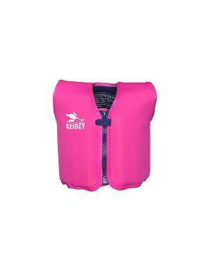 Плавательный  жилет Keidzy. Цвет: розовый