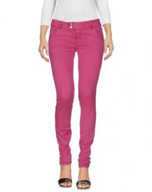 Джинсовые брюки MET & FRIENDS. Цвет: розовато-лиловый