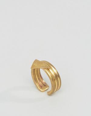 Made Кольцо с треугольником. Цвет: золотой