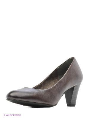 Туфли Tamaris. Цвет: бронзовый, темно-коричневый, темно-серый