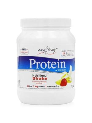 Белковая смесь  Easy Body protein (банан/клубника),350 г QNT. Цвет: белый