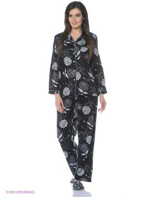 Пижама Del Fiore. Цвет: черный, серый