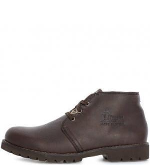 Зимние кожаные ботинки на шнуровке Panama Jack. Цвет: коричневый