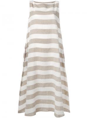 Полосатое платье Apuntob. Цвет: телесный
