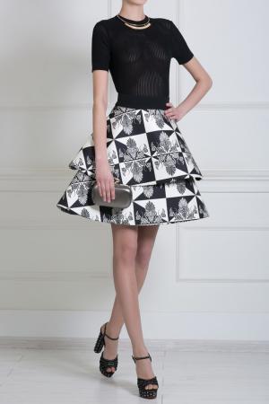 Шелковая юбка Fausto Puglisi. Цвет: кремовый, черный