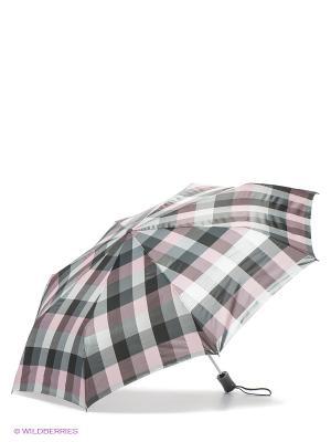 Зонт Labbra. Цвет: серый, темно-серый, бледно-розовый