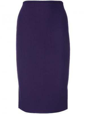 Приталенная юбка-карандаш Roland Mouret. Цвет: розовый и фиолетовый