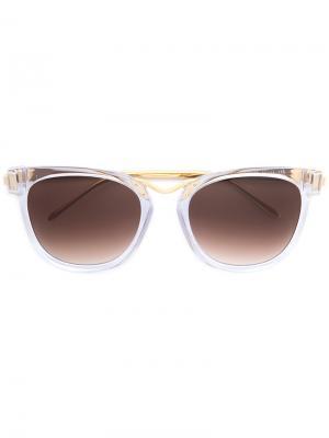 Солнцезащитные очки в квадратной оправе Thierry Lasry. Цвет: металлический