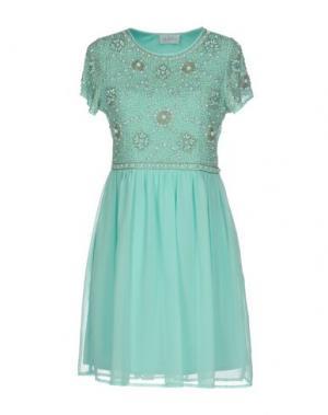 Короткое платье LA KORE. Цвет: бирюзовый