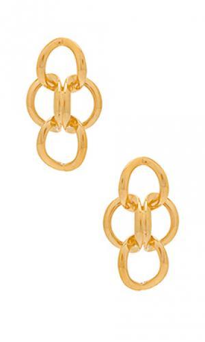 Золотые серьги xavier Amber Sceats. Цвет: металлический золотой