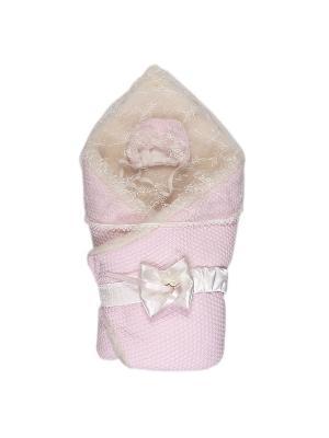 Конверт-одеяло Жемчужинка мех Сонный гномик. Цвет: розовый
